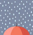 Rain drops with umbrella vector image vector image