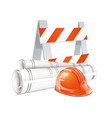 realistic construction vector image vector image