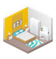 realistic isometric bathroom vector image