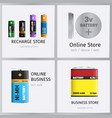 recharge online business store elements banner set vector image vector image