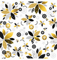 repeatable pattern with golden and black vector image