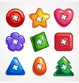set of cute bright colorful buttons for vector image
