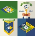 Set of flat design Brazilian soccer labels vector image vector image