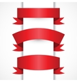set realistic red ribbons for your vector image