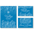 set templates for wedding invitation or vector image