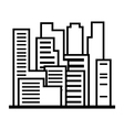 Skyscrapers Outline vector image vector image
