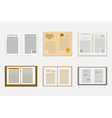 Sleek design a set of books Modern style icons vector image vector image
