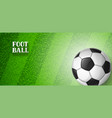 soccer or football banner with ball sports vector image