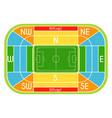 soccer stadium scheme with zone vector image