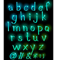Sparkling letters of the alphabet vector image