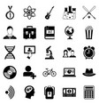 student icons set simple style vector image vector image