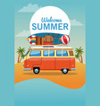 summer and beach cartoon vector image