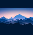 sunrise in mountains colour mountains landscape vector image