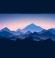 sunrise in mountains colour mountains landscape vector image