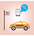 taxi style icons decoration eps10 vector image vector image