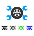 tire service wrenches flat icon vector image vector image