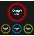 transparent badges set vector image vector image