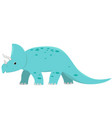 triceratops dinosaur isolate on white background vector image