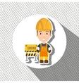 under construction worker website vector image vector image