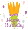 Unusual happy birthday card with carrot vector image vector image
