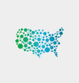 usa united states network map graphic vector image