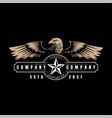 vintage retro classic eagle hawk star logo design vector image