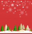 winter landscape with christmas tree vector image