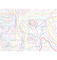 abstract topographical map vector image