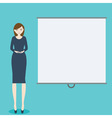 Business woman with demonstration board vector image