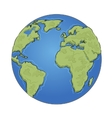 Hand drawn earth on white background vector image