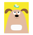 Notebook cover Composition book template Dog big vector image