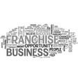 a franchise business is not the right opportunity vector image vector image