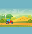 agriculture and farming agribusiness summer vector image vector image