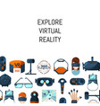 background with flat style virtual reality vector image vector image