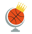 Basketball Ball Icon with Crown vector image vector image