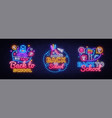 big neon signs for back to school neon vector image