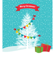 Birds decorate a Christmas tree vector image