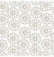brown silhouette pattern with daisy flowers vector image vector image