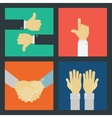 Business Hand Signs Kit vector image