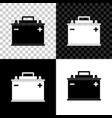 car battery icon isolated on black white and vector image vector image