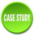 case study green round flat isolated push button vector image vector image
