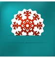 Christmas snowflake applique EPS8 vector image vector image