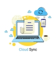 Cloud synchronization vector image vector image