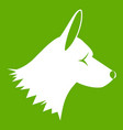 collie dog icon green vector image vector image