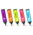 colorful markers set realistic 3d detailed vector image