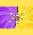 comic duel bright template vector image vector image