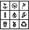 Concept flat icons in black and white eco symbols vector image vector image