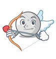 cupid golf ball character cartoon vector image