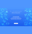 e-learning online education blue background vector image vector image
