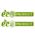 eco product logo vector image vector image
